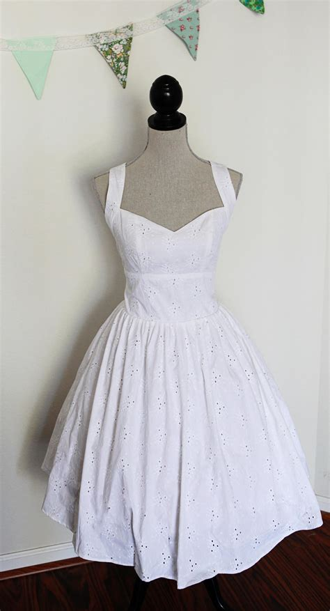 Pinup Style Wedding Dresses by Sale Wedding Dress Pin Up Style Cotton Eyelet Lace