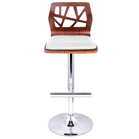 wood and chrome bar stools 2x cut out wood chrome pu leather bar stool white buy