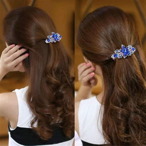 Flower Hair Barrette how to make a hair barrette new fashion rhinestone