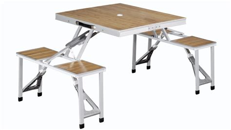 picnic table and chairs outwell dawson folding picnic table and chair set by