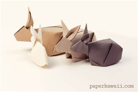 Origami Rabbits - origami bunny rabbit tutorial paper kawaii