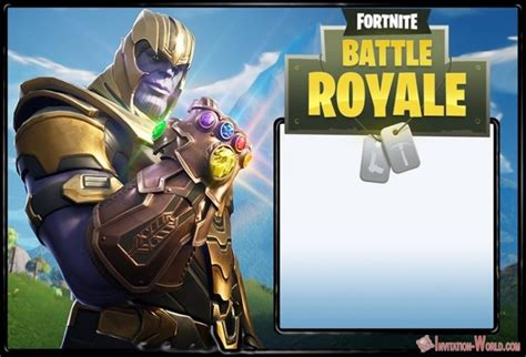 8 Fortnite Invitation Templates For Epic Party Invitation World Fortnite Template