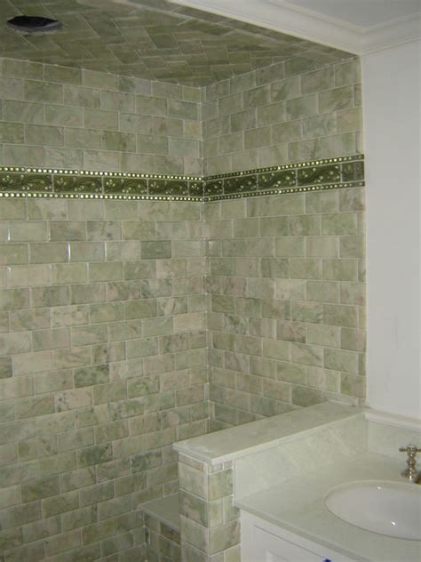 Green marble subway tile shower traditional bathroom green marble bathroom tile tsc