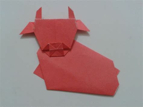 How To Make An Origami Cow - origami cow papiroflexia y marcapaginas
