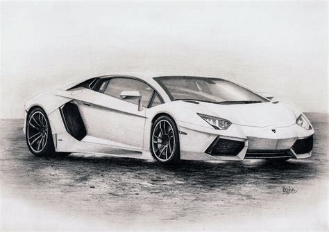 Lamborghini Drawings Lamborghini Aventador Drawing By Bajan On Deviantart