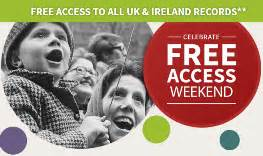 Free Access To Records Uk Irishgenealogynews Free Access Weekend Ancestry S Ireland Uk Records