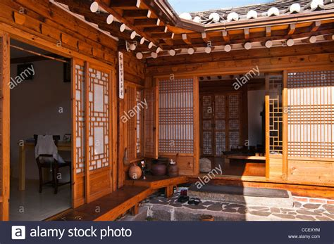 Korea House by Traditional Korean House With Timber Frames And Clay Roof