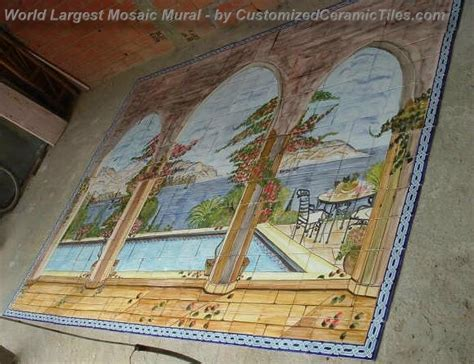 worlds largest hand painted ceramic tiles mosaic mural