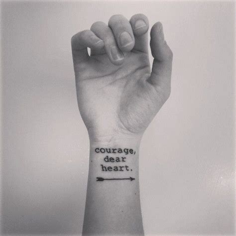 courage tattoos on wrist 25 best ideas about courage dear on