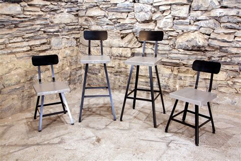 industrial style bar stools with back brew haus london fog edition industrial style scooped