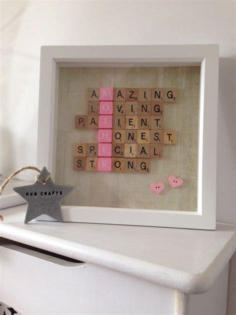 scrabble presents s day frame dominoes and scrabble tiles