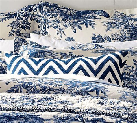 Blue Toile Duvet Cover Matine Toile Duvet Cover Amp Sham Twilight Blue