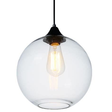 Clear Glass Globe Pendant Light Clear Clear Globe Glass Vintage Ceiling L Light Chandelier Pendant Lighting Ebay