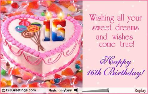 10 Birthday Greetings For Your Friends Sweet Sixteen by Sweet Sixteen Birthday Images Sweet 16th Birthday Free
