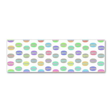 Whimsical Business Card Templates by Whimsical Pastel Retro Macarons Pattern Business