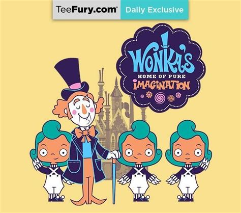 T Shirt Chocolate Despicable Me willy wonks concept teefury willy wonka and