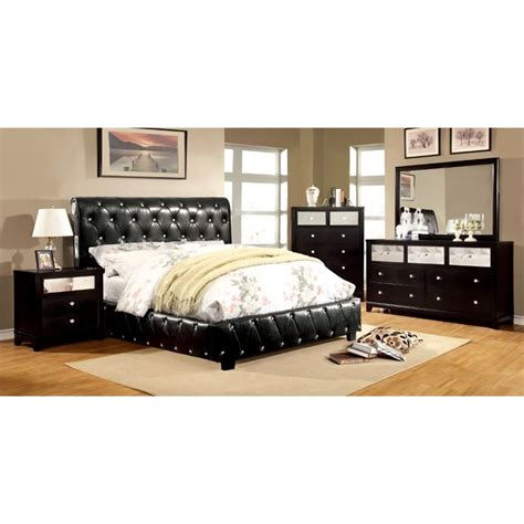 black full bedroom set furniture of america morella 4 piece full bedroom set in