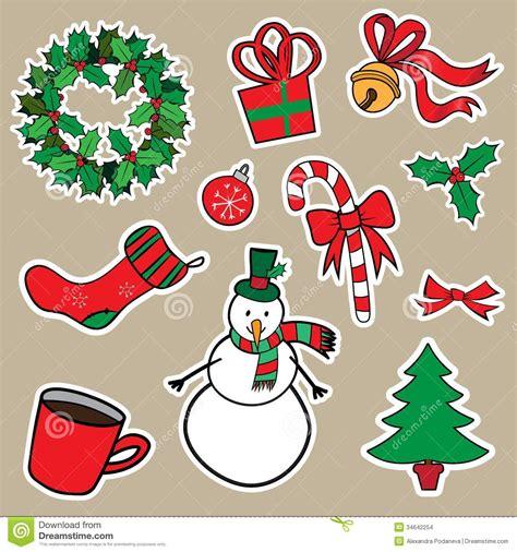 Aufkleber Weihnachten Kostenlos by New Year And Sticker Icons Stock Vector