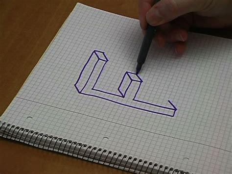 Dreidimensional Zeichnen by 3d Buchstaben Zeichnen So Geht S