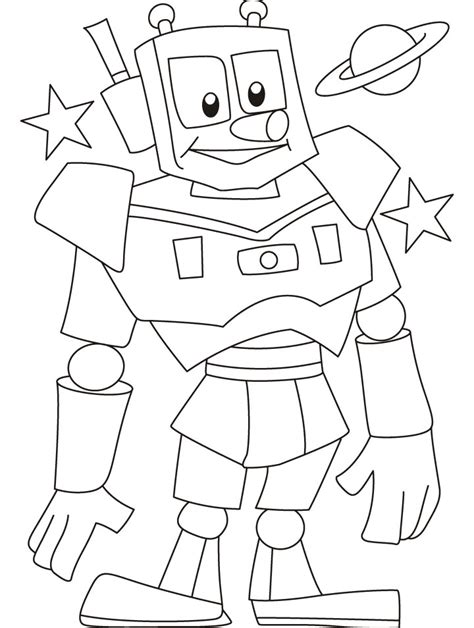 preschool robot coloring pages free printable robot coloring pages for kids