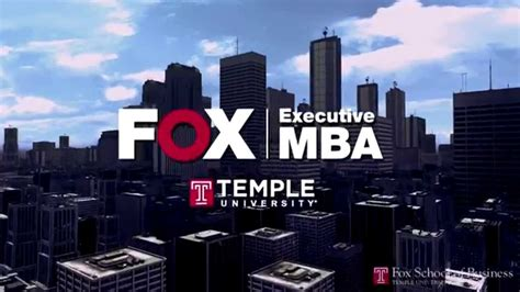 Fox Mba Admissions by Why The Fox Executive Mba At Temple