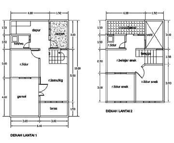 gambar desain rumah  ukuran tanah kecil hontoh