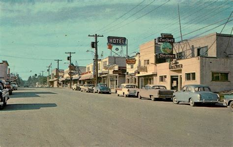 "Postcard: Quesnel, BC, 1960   ""The Main Street of Quesnel"