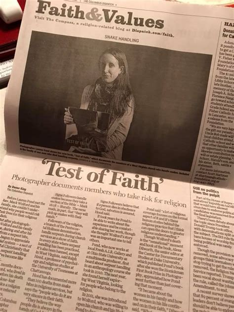 test of faith signs serpents salvation center for documentary studies honickman book prize in photography books columbus dispatch and mavcor pond documentary