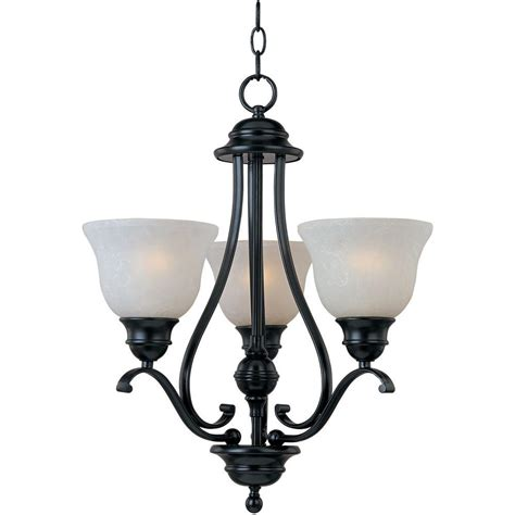 Black Mini Chandelier Maxim Lighting 3 Light Black Mini Chandelier 11804icbk The Home Depot