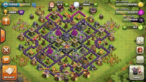 ultimate layout compilation th9 war base 4 mortars no xbows www pixshark com
