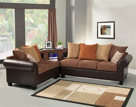 orange and brown sofa brown sectional sofa set with aux cd and am fm stereo