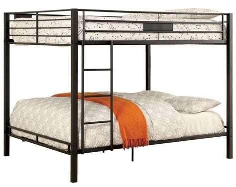 queen over queen bunk bed claren black queen over queen bunk bed cm bk939qq