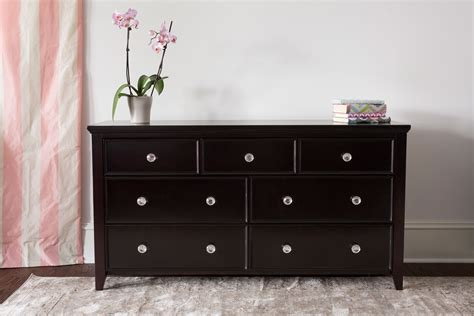 Dresser With Clear Drawers by 3 4 Drawer Dresser Espresso Craft Bedroom Furniture
