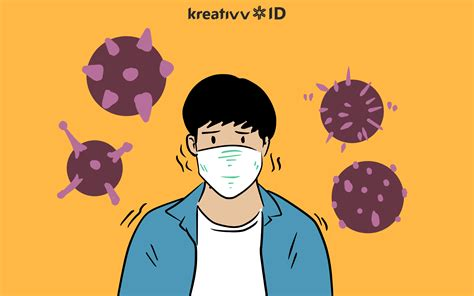 gambar virus corona kartun png