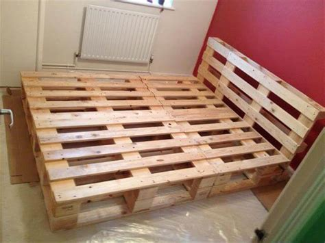 bed frame from pallets recycled pallet bed frame projects recycled things
