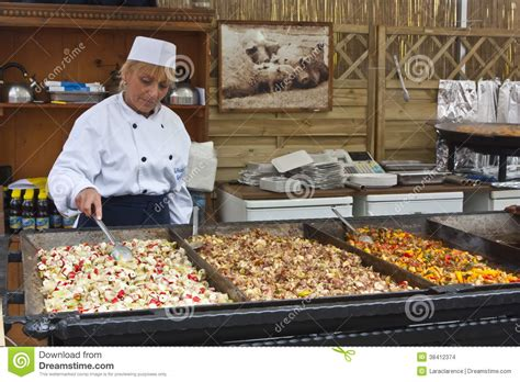 food stand food stand editorial stock image image 38412374