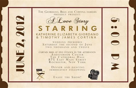 theater invitation template cobypic com