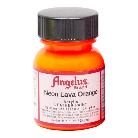 angelus paint neon buy angelus leather paint 1 oz neon lava orange