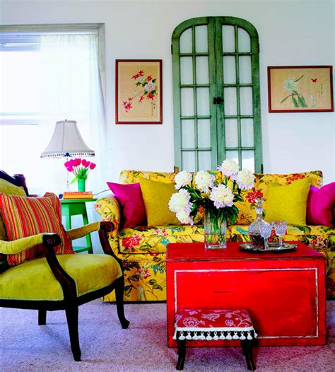 colourful living room furniture