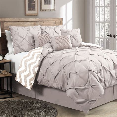 gray down comforter the ella 7 piece reversible comforter set will work in any