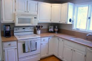Before And After White Kitchen Cabinets Remodelaholic Freshened Up Kitchen Remodel Around Existing Countertops
