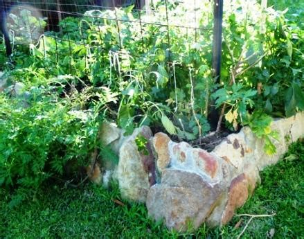 Rock Vegetable Garden No Dig Ways To Contain Raised Garden Beds