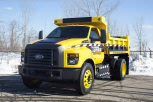 Ford Tonka Mighty Ford F 750 Tonka Dump Truck Is Ready For Work Or