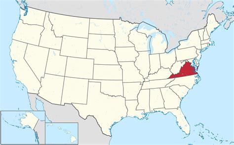 map united states virginia virginia