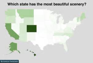 most scenic states poll how americans feel about the states business insider