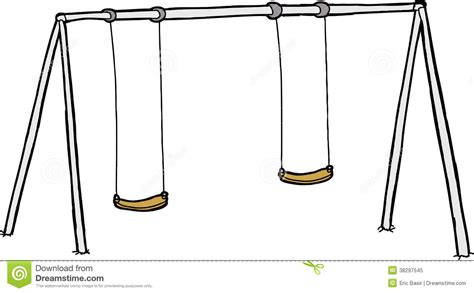 swing set drawing isolated swing set royalty free stock photo image 38297545