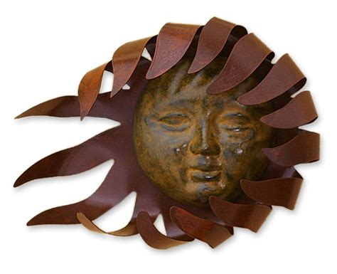 sun sculpture mexican metal sun wall art sun wall decor ebay with