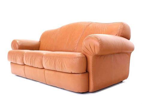 baseball sofa pair of tan decorative baseball style stitching leather