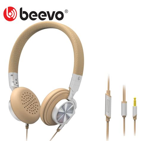 Termurah Headset Earphone Bass With Mic Beevo Bv Em390 bluedio t2 wh wired portable stereo earphones headset