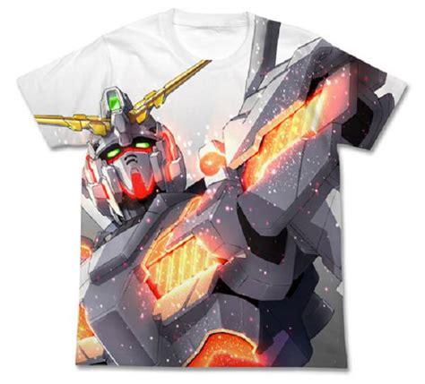 Tshirtt Shirtkaos Gundam 機動戰士高達系列 日版 加大 獨角獸高達 白色 t shirt gundam uc buyway hk